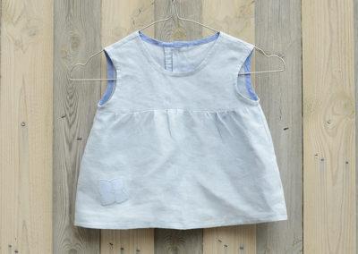 Lichtblauwe-linnen-meisjesjurk-tuniek-maat80